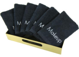 Makeup Black Washcloths 13x13 at RagLady.com