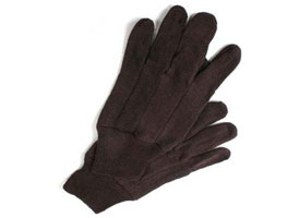 Brown Jersey Gloves at RagLady.com