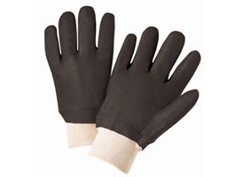 PVC Black Knit Wrist Gloves at RagLady.com