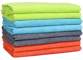 Edgeless Microfiber Towels 16 x 16 at RagLady.com