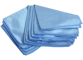 Streak-Free Glass Cleaning Microfiber 16x16 at RagLady.com