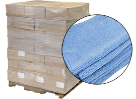 Microfiber Cloths 12x12 - 48 Cases at RagLady.com
