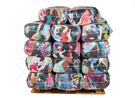 Colored Recycled Sweatshirt Rags - 25lb Anti-Skid Bags - 1000lbs at RagLady.com