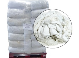 Recycled White Flannel Rags 18x18 - 50 Anti-Slip 20lb Bags at RagLady.com