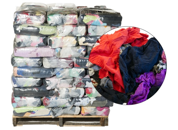 Recycled Colored T-Shirt Rags - 100 Anti-Slip 10lb Bags at RagLady.com