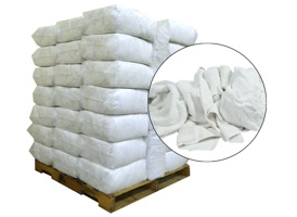 Recycled White Towels Cut 20x20 - 50 Anti-Slip 20lb Bags at RagLady.com