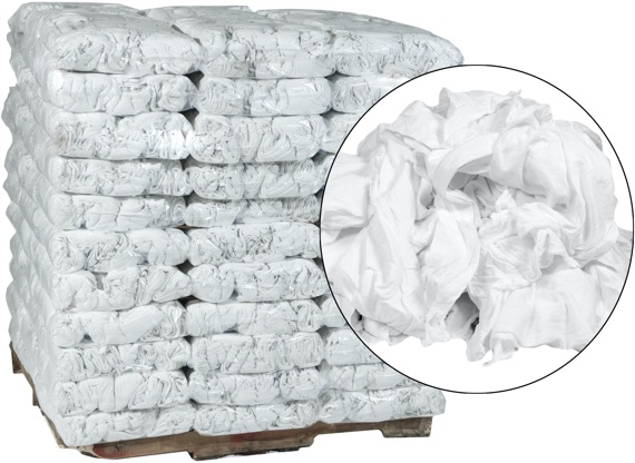 New Premium White Cotton Rags 18x18 - 99 Anti-Slip 10lb Bags at RagLady.com