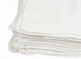 Economy Ribbed Terry Towel Rags 15x18 at RagLady.com