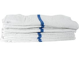 Economy Striped Pool/Bath Towels 22x44 at RagLady.com