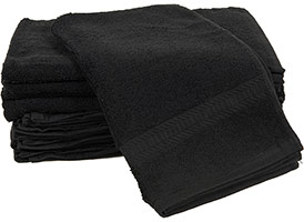 Black Premium Hand Towels 16x27 at RagLady.com