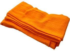 Orange Huck Towels 16x26 at RagLady.com