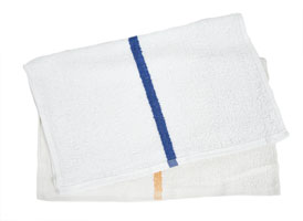 Economy Striped Bar Towels 16x19 at RagLady.com