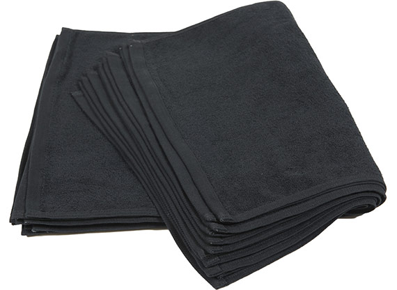 Black Cotton Hand Towels 16x28 at RagLady.com