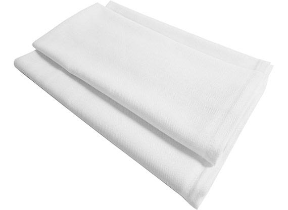 Bright White Herringbone Towel 16x25