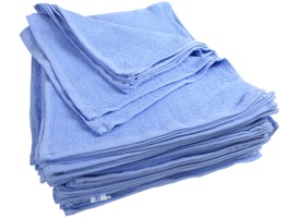 Blue Terry Bar Mop Towels 15x18 at RagLady.com