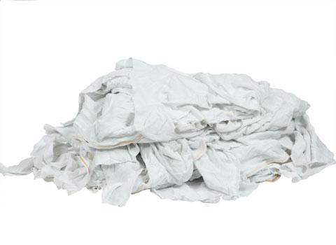 Recycled white cotton rags bulk 40 lb box for T shirt rags bulk