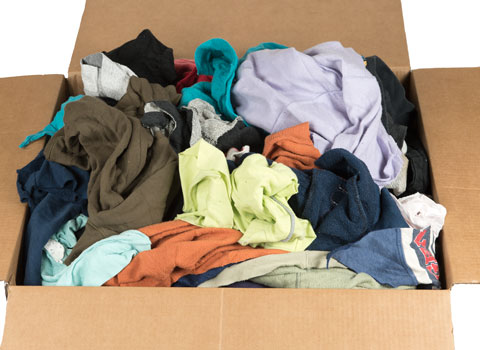 Recycled Colored Sweatshirt Rags 18x18 at RagLady.com