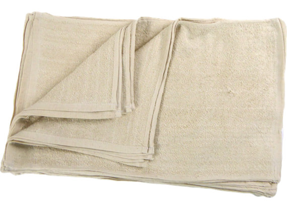 New Irregular Natural Terry Towel 12x19 at RagLady.com