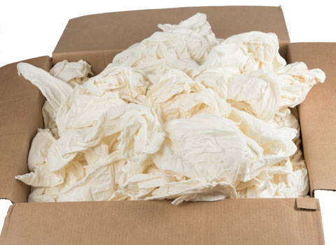 Heavyweight 100 cotton rags by the box new for T shirt rags bulk