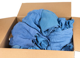 Blue Recycled Surgical Huck Rags at RagLady.com