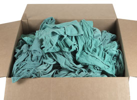Green Recycled Surgical Rags at RagLady.com