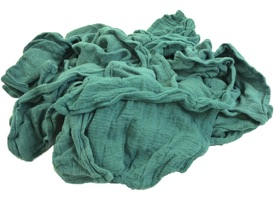 Green Recycled Surgical Huck Rags at RagLady.com