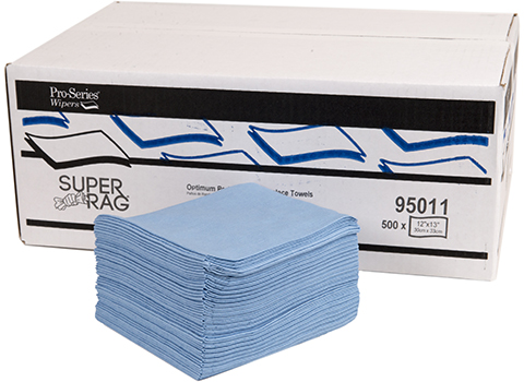 Premium Lint Free Wipes Blue 12x13 #95011 at RagLady.com