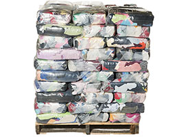 Colored Recycled T-Shirt Rags - 10lb Anti-Skid Bags - 1000lbs at RagLady.com