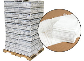 Lint Free Wipes - White 12x13 - 70 Cases at RagLady.com