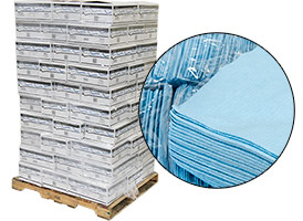 Lint Free Wipes - Blue 12x13 - 70 Cases at RagLady.com