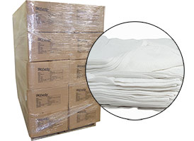 Economy Terry Cloths 12x12 Skid - 900lbs (42 Cases) at RagLady.com