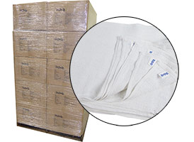 Economy Ribbed Terry Rags 15x18 - 30 Cases - 900lbs at RagLady.com