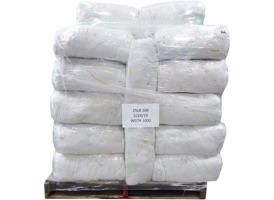 Recycled White Cotton Rags - 40 Anti-Slip 25lb Bags at RagLady.com