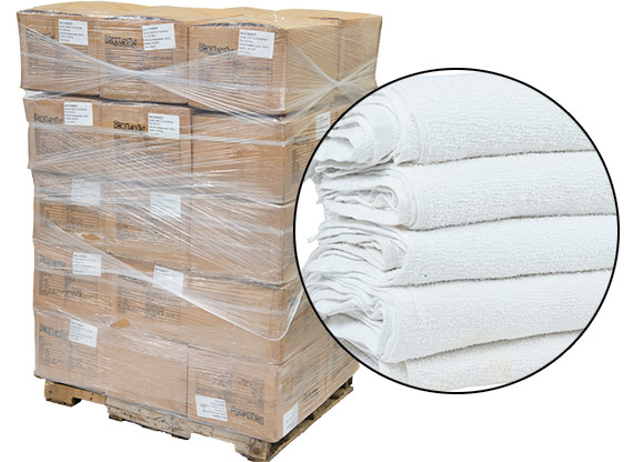 Terry Bar Towels 16x19 - Prewashed - 36 Cases - 800lbs