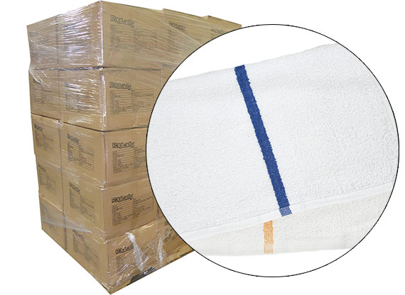 Terry Bar Mop Rags 900lbs (30 Cases of 180 Towels/Case) at RagLady.com