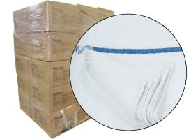 Terry Bar Mop Rags 16x19 - 30 Cases - 900lbs at RagLady.com