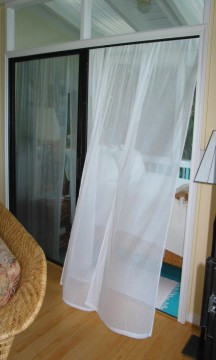 Bedroom curtains (#90 Cheesecloth)