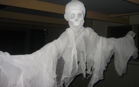 Flying Skull Ghost (#60 Cheesecloth)